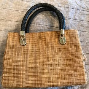 NWOT Cole Haan straw bag